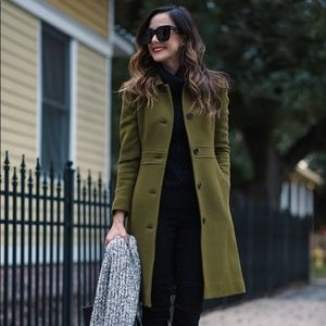 J. Crew Doublecloth Iris Moss Lady Day Coat